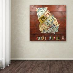 "18 in. x 18 in. ""Georgia Map"" by Design Turnpike Printed Canvas Wall Art"
