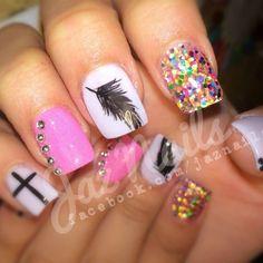 How pretty! Me gusta Pretty Hands, Dope Nails, Mani Pedi, Nails Inspiration, Girly Things, Hair And Nails, Yay Yay, Nail Designs, Hair Beauty