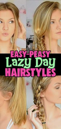 10 EASY Lazy Girl Hairstyle Ideas {Step By Step Video Tutorials For Lazy Day Running Late Quick Hairstyles} – Involvery Lazy Hairstyles! Easy Lazy Day Hairstyles and Hair Ideas for those Running Late quick hairstyle ideas needs of lazy girls Updo Casual, Easy Casual Hairstyles, Lazy Girl Hairstyles, Easy Everyday Hairstyles, Easy Hairstyles For Medium Hair, Easy Hairstyles For Long Hair, Medium Hair Styles, Short Hair Styles, Hairstyle Ideas