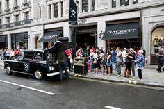 @hackettlondon customers enjoy delicious coffee at #SummerStreets on #RegentStreet.