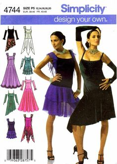 Simplicity 4744 Sewing Pattern Womens Dress by patternshop on Etsy
