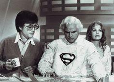 Director Richard Donner on the Krypton set of 'Superman' with Marlon Brando and Susannah York Marlon Brando, Christopher Reeve, Videogames, Superman Film, Susannah York, Last Tango In Paris, Action Comics 1, Marvel Comics, Richard Donner