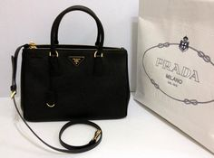 Prada Saffiano Lux Tote, BN2274, Black color for Angie, In Apr 2012. Click the picture for more details.