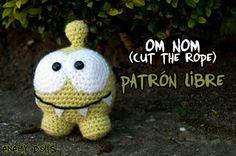 Patrón libre de Om Nom (Cut the rope) / Om Nom libre pattern