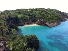 Little Bay, one of Anguilla's most iconic beaches, To get to it, we will climb down by rope