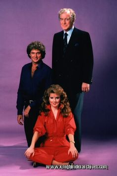 David Hasselhoff, Rebecca Holden and Edward Mulhare together in a rare Season 2 press photo, 1983 #TBT