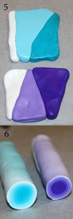Tuto cane kaléïdoscope 3 Sue - great pic tute for ombre effect Fimo Polymer Clay, Polymer Clay Projects, Polymer Clay Creations, Polymer Clay Earrings, Clay Crafts, Fimo Tutorial, Clay Design, Clay Tutorials, Clays