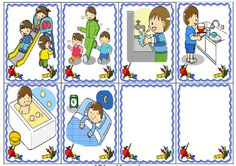 Indoor Activities For Toddlers, Back To School Activities, Beginning Of The School Year, First Day Of School, Organisation Administrative, Sequencing Pictures, Clever Kids, Learning Cards, Grande Section