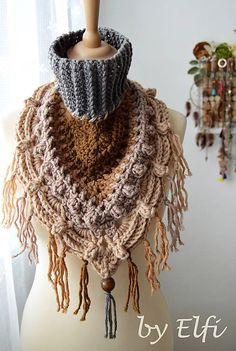 Elfi / Háčkovaný nákrčník/šatka ♦ Bohemian ♦ Elf, Bohemian, Crochet, Outfits, Inspiration, Fashion, Biblical Inspiration, Moda, Fashion Styles