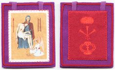 The Purple ( violet ) Scapular: Scapular of blessing and protection    http://www.marie-julie-jahenny.fr/scapular-of-blessing-and-protection.htm    Ecstasy of 23th August 1878