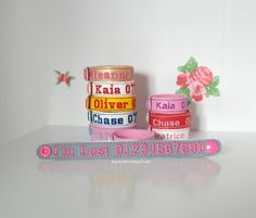 Childrens ID Lost Bracelet embroidered / allergy / child / medical by NayworthCottageCraft on Etsy