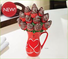 The man of my dreams will get me a boquet of chocolate covered strawberries rather than flowers.  (: