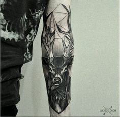 Pretty geometric deer tattoo tatuajes | Spanish tatuajes |tatuajes para mujeres | tatuajes para hombres | diseños de tatuajes http://amzn.to/28PQlav