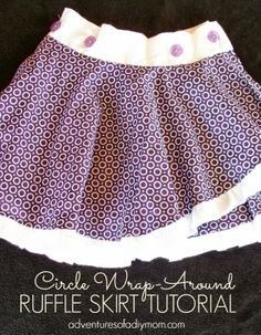 Circle Wrap-Around Ruffle Skirt Tutorial by Adventures of a DIY Mom