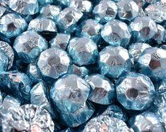 A bulk Foiled Chocolate Diamonds Ice Blue Box.