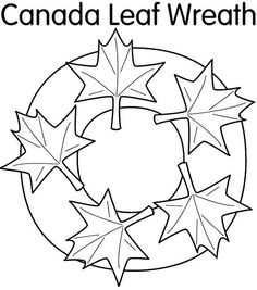 This is a coloring page that can keep yous students busy on Canada Day lesson. It's called 'Canada Leaf Wreath'. The students are supposed to color it the colors of the Canadian flag, cut ou Canadian History, Canadian Art, Canadian Quilts, Canada Day Crafts, Black History Quotes, History For Kids, Thinking Day, Free Coloring Pages, Graphic Organizers