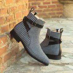 Leather Buckle, Calf Leather, Black Leather, Soft Leather, Bespoke, Custom Design Shoes, Painting Leather, Goodyear Welt, Jodhpur