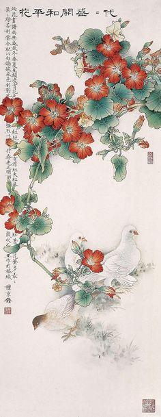 【国画】檀东铿的工笔花鸟