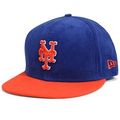 Men s New York Mets New Era Royal Orange 2 Tone Team Corduroy 59FIFTY  Fitted Hat 83051c10079c