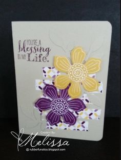 Stampin' Up! Bloom for you by Melissa Davies @ rubberfunatics