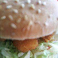 Fish burger. Four, yes four, fish fingers with lettuce tomato and mayo for 8 bucks. @ ŠKODA Stadium