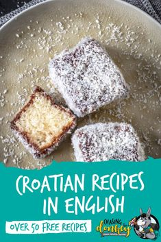 Croatian Cooking: Looking to bring the flavors of Croatia into your kitchen? Over 50 free recipes of traditional Croatian cuisine, all in English, for you to enjoy! Albanian Recipes, Bosnian Recipes, Hungarian Recipes, Banana Dessert, Dessert Bread, Croation Recipes, Eastern European Recipes, European Cuisine, Sweets