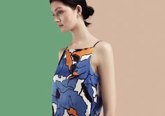 Hector Camofleur Print Square Neck Cami Top - Finery London