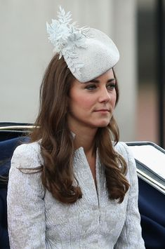 Catherine, Duchess of Cambridge travels by carriage during Trooping the Colour - Queen Elizabeth II's Birthday Parade, at The Royal Horseguards on June 14, 2014 in London, England.