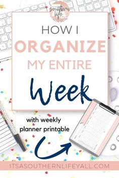 Learn how I plan my week for maximum productivity. Manage your days and weeks with these time management tips and hacks. Planning every day is easy when you know where to start to organize your week. // It's A Southern Life Y'all -- Time Management Strategies, Time Management Skills, Time Management Quotes, Goal Planning, Planning Your Day, Daily Planning, Planning And Organizing, Planner Organization, Organizing Paperwork