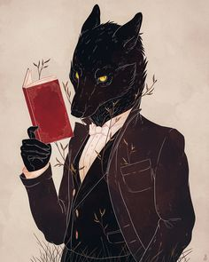 """""""His face, he knew, he could never disguise—the coat of a man cannot hide a wolf's eyes."""" -- Art print on thick, archival matte paper  (prints and posters are of the same material and quality--the only difference is their size!) - Online Store Powered by Storenvy"""
