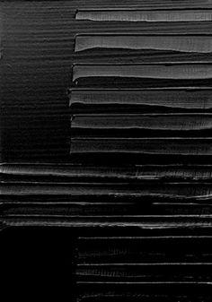"""Pierre Soulages, """"Peinture 130 X 92 cm"""" (12 octobre 2007)"""