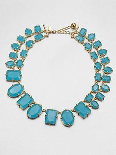 Kate Spade Geometric Double-Row Necklace Good think Franchesca's Collectibles has this exact necklace for $28!