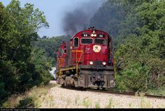 RailPictures.Net Photo: AM 44 Arkansas & Missouri Railroad Alco C420 at Garfield, Missouri by David Hawkins