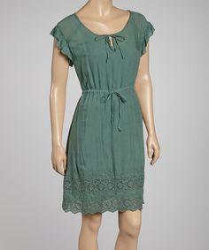 Another great find on #zulily! Seafoam Embroidered Dress - Women by Como No? by Biz #zulilyfinds