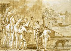 fool in forest punchinello tiepolo - Google Search