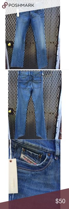 Diesel Ronhar boot cut jeans. These are fantastic NWT Size 25 and 34 inches long make me an offer. Diesel Jeans Boot Cut