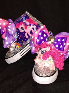 My Little Pony Pinkie Pie Shoe by SwalkerDesigns on Etsy My Little Pony Clothes, My Little Pony Shoes, Pinkie Pie, Minnie Mouse, Trending Outfits, Unique Jewelry, Handmade Gifts, Etsy, Vintage