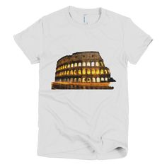 """Colosseum by Night"" short sleeve women's t-shirt"