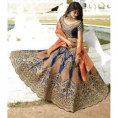It is always difficult to trust on online stores for designer lehenga choli. With the advent of an online shopping portal like Buy Indian Wear that is dedicated to providing the best Indian Lehenga Online Shopping you can expect things to become easier. Lehnga Dress, Bridal Lehenga Choli, Indian Lehenga, Wedding Lehnga, Silk Lehenga, Silk Dupatta, Pakistani Bridal, Gown, Sari