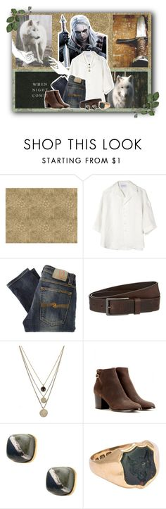 """""""Geralt of Rivia"""" by hbw1996 ❤ liked on Polyvore featuring Can Pep Rey, Nudie Jeans Co., HUGO, LowLuv, Jimmy Choo and Hiro + Wolf"""