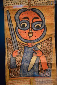 Rouleau, détail, ange gardien, Musée du quai Branly - Ethiopian art - Wikipedia, the free encyclopedia