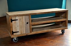Reclaimed wood Sideboard Rustic Industrial TV Media Stand Scaffold Boards Pallet wood Furniture Castor wheels Are you moving to a new home? Or want to refresh the look of your home or office interior? We are here to help you create your modern industrial rustic look. We offer high quality