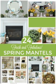 Stuck on how to decorate your Spring mantel this year? See these 24 FRESH AND FABULOUS Spring Mantel decorating ideas to inspire you!