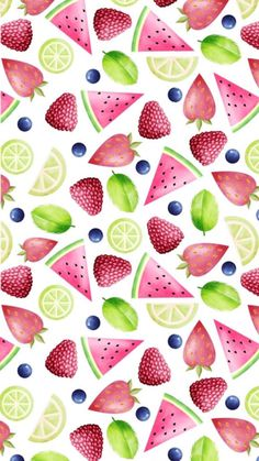 Summer Wallpaper, Cute Wallpaper Backgrounds, Wallpaper Iphone Cute, Cellphone Wallpaper, Cool Wallpaper, Mobile Wallpaper, Pattern Wallpaper, Cute Wallpapers, Watermelon Images