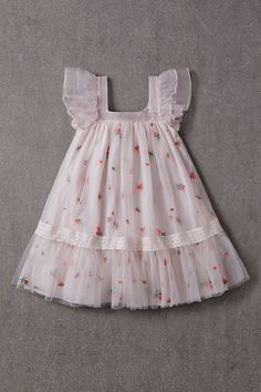 Nellystella Fiona Dress Spring Floral Tulle A beautiful dress for special . - Nellystella Fiona Dress Spring Floral Tulle A beautiful dress for special occasions by Nellystella - Frocks For Girls, Little Girl Dresses, Girls Dresses, Baby Girl Skirts, Baby Skirt, Baby Dresses, Dress Girl, Dresses Dresses, Dance Dresses