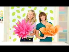 How to Make Giant Paper Flowers - YouTube