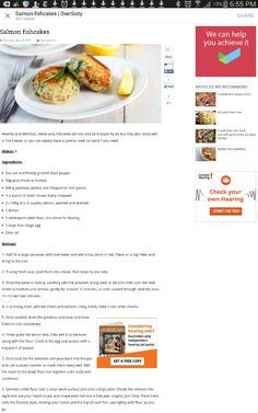 What's for Dinner Gluten Free Salmon Fishcakes, Fish Recipes, Fries, Gluten Free, Tasty, Meals, Canning, Dinner, Glutenfree