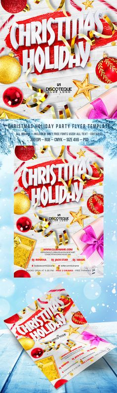 Christmas Flyer Template PSD #design #xmas Download: http://graphicriver.net/item/christmas-flyer/13339517?ref=ksioks