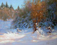 Barbara Jaenicke, In the Winter Spotlight, oil, 11x14
