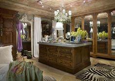 Amazing bedroom closet... a bit worldly but beautiful